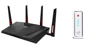Asus combo: ASUS RT-AC88U Wireless AC3100 Dual-Band Gigabit Router + ARRIS SurfBoard SB6183 DOCSIS 3.0 Cable Modem $224AR from Newegg (Back in stock