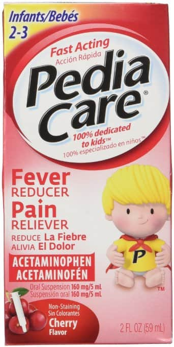 Pediacare Infants (2-3 yrs) Acetaminophen Fever Reducer Pain Reliever, Non Staining Cherry -2 Fluid Ounces - $3.40 AC & S&S ($2.83 AC & 5 S&S Orders) - Amazon
