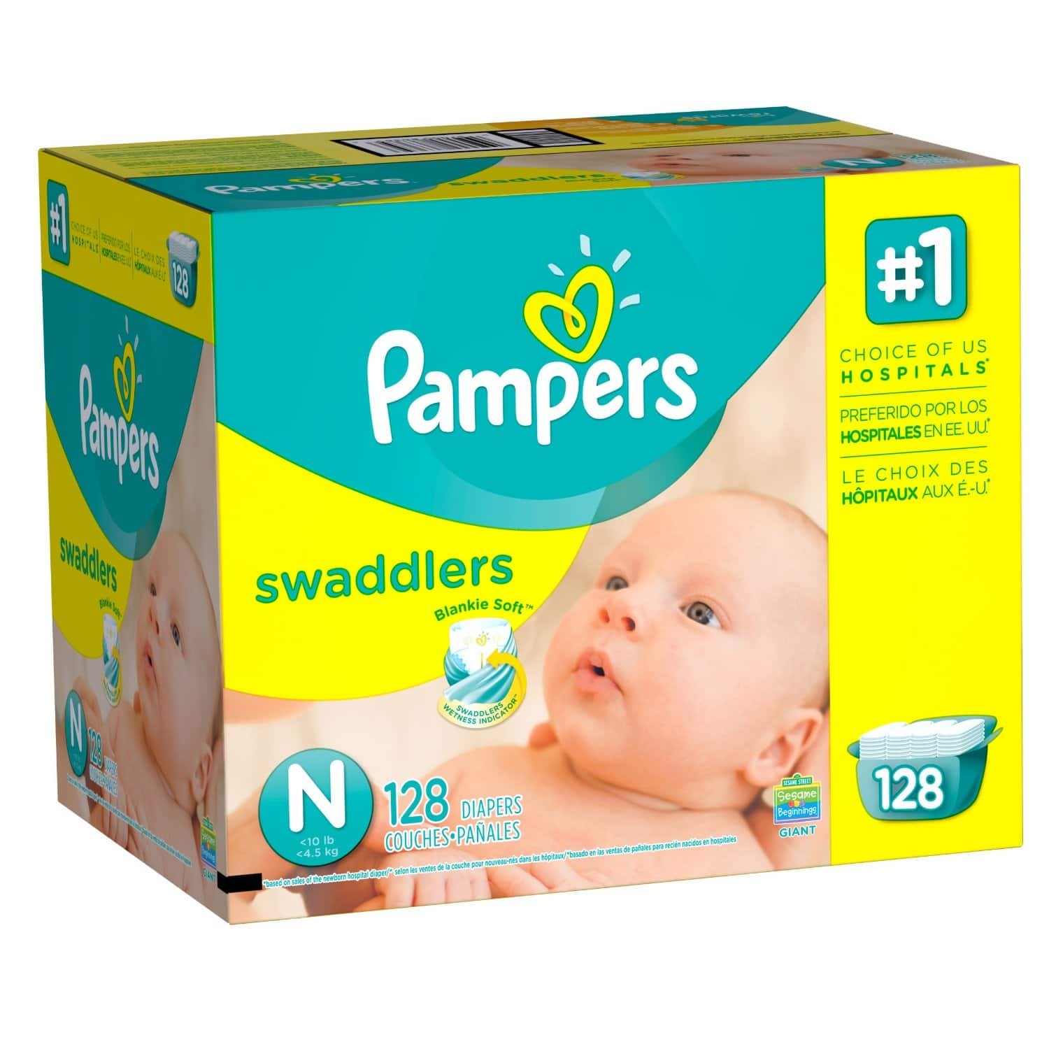 Prime Members: Pampers Diapers Pack: Swaddler, Baby Dry & More  30% Off or Less + Free S/H