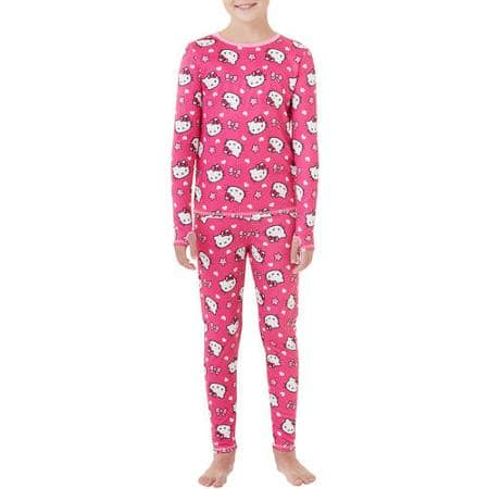 ClimateRight by Cuddl Duds Girls' Fleece Warm Underwear Set or Character Set (pants and top) $3 + free site-to-store pickup at Walmart