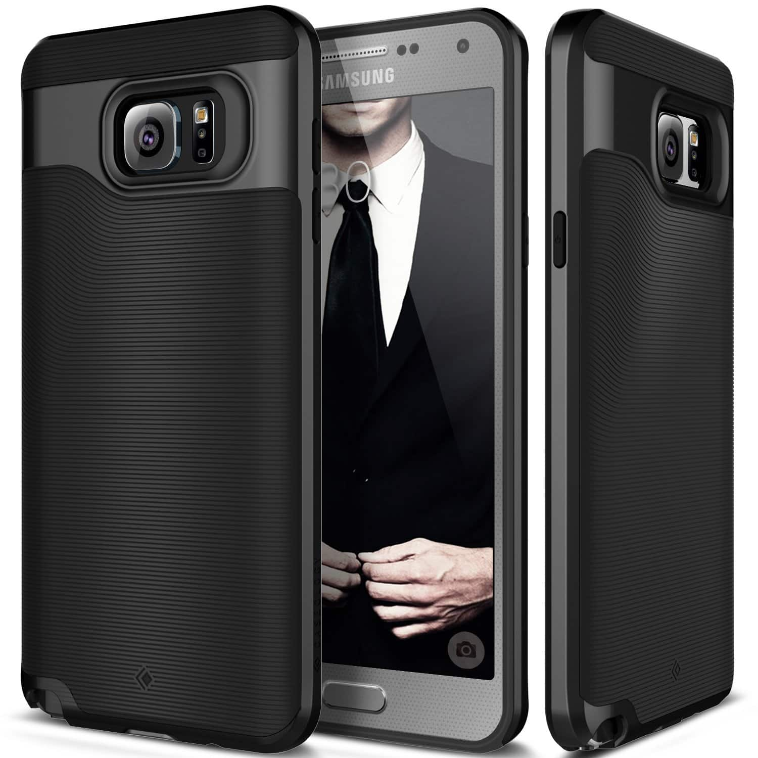 Caseology Samsung Galaxy Note 5 Cases (Black)  Free + Free S/H