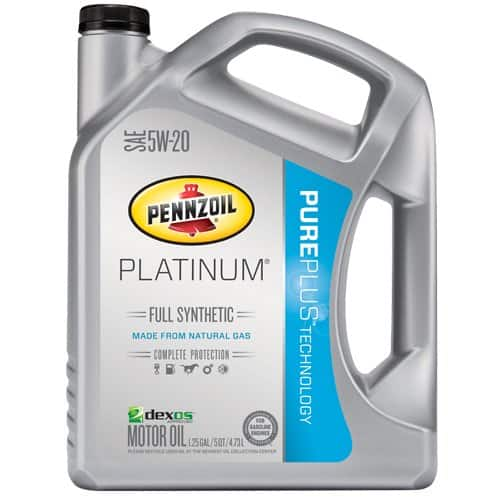 Pennzoil 550038332 Platinum 5W-20 Full Synthetic Motor Oil API GF-5 - 5 Quart Jug $19.25 fs / w/S&S (@15%) @ amazon
