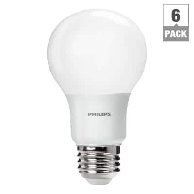 6-Pack Philips 60W Equivalent A19 Soft White LED Light Bulbs  $15 & More + Free In-Store Pickup