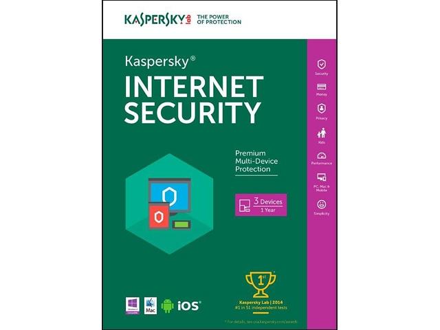 Kaspersky Internet Security 2016 - Key Card - 3 PCs FAR @ Newegg
