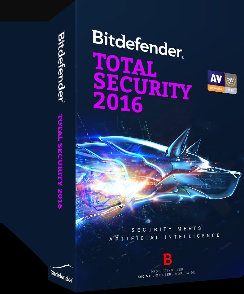 Bitdefender Total Security 2016 - 3 PCs/1 Yr - Activation Link via email - $19.95