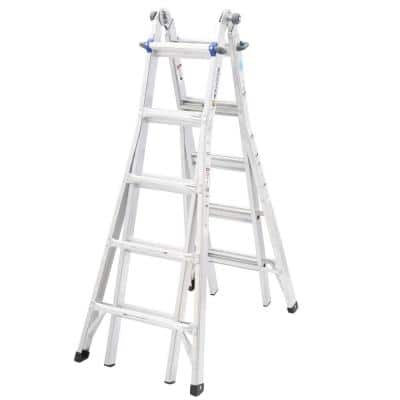 Werner 22 ft. Aluminum Telescoping Multi-Position Ladder with 250 lb. Load Capacity Type I Duty Rating for $99.99 @ Home Depot