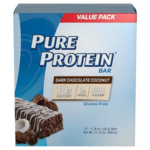 Pure Protein Dark Chocoloate Coconut Bars - 12 Count Box: $6.99 @ Target