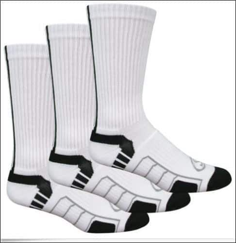 3-Pairs of Spalding Men's Cushioned Support Athletic Crew or Quarter Socks $9.99 + free shipping