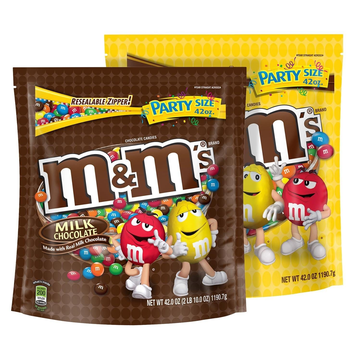 2-Pack 42oz M&M'S Milk Chocolate and Peanut Candy Mix Party Size $6.27 + Free Shipping w/ prime
