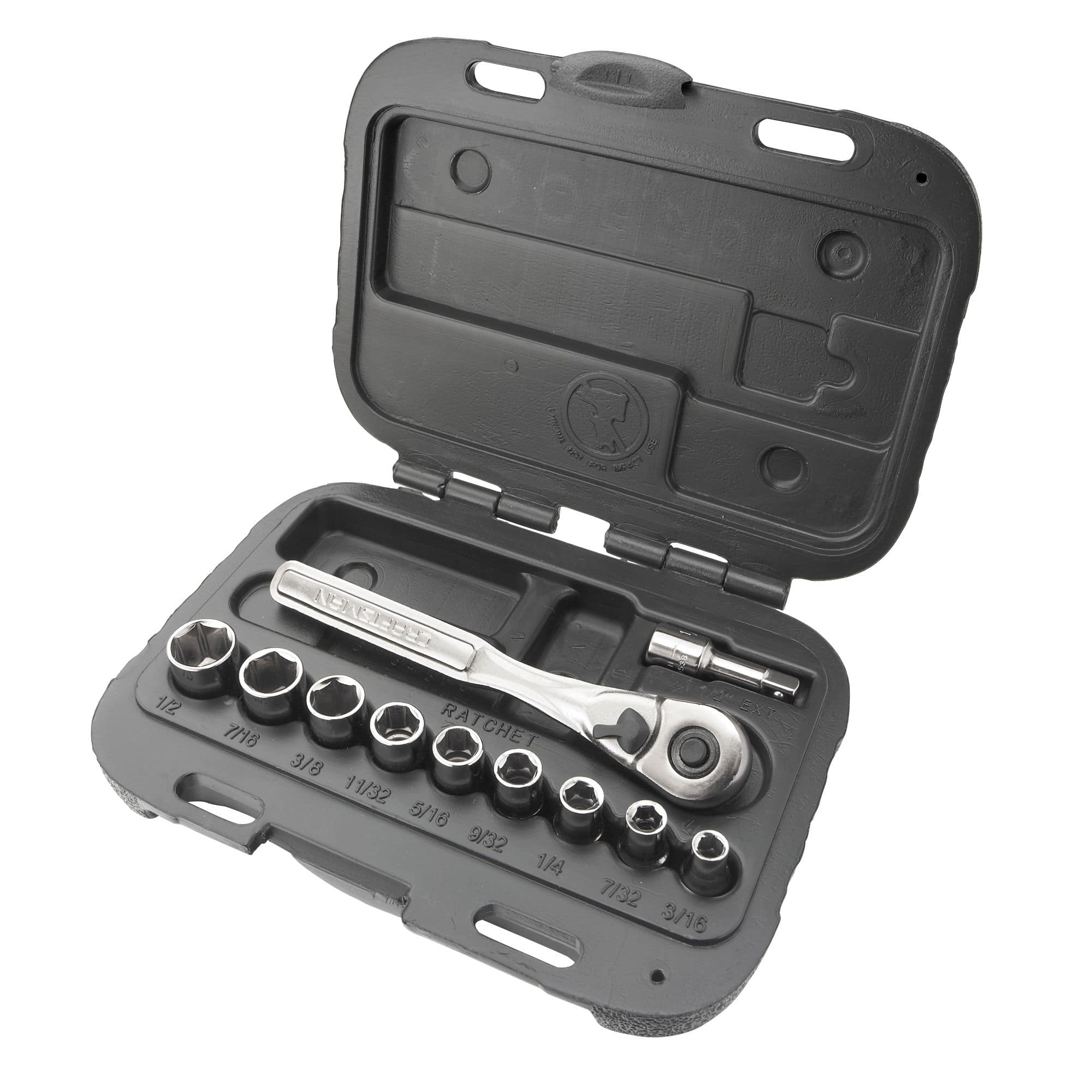 """11-Piece Craftsman 6-Point 1/4"""" Drive Socket Wrench Set (Metric or Standard) $9.99 + Free Store Pickup ~ Sears"""