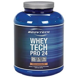 10lb BodyTech Whey Tech Pro 24 whey protein + Shaker $66.98 or 20lb Bodytech whey for $101.87 + Free Ship - And more deals ($10 off $75+)