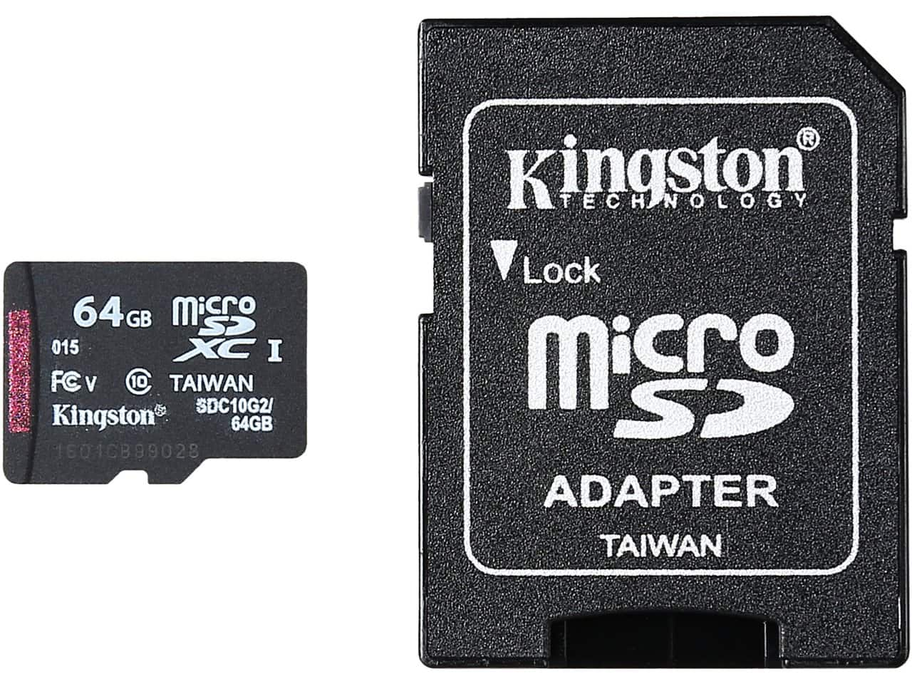 64GB Kingston Class 10 MicroSDXC Flash Card w/ Adapter  $14
