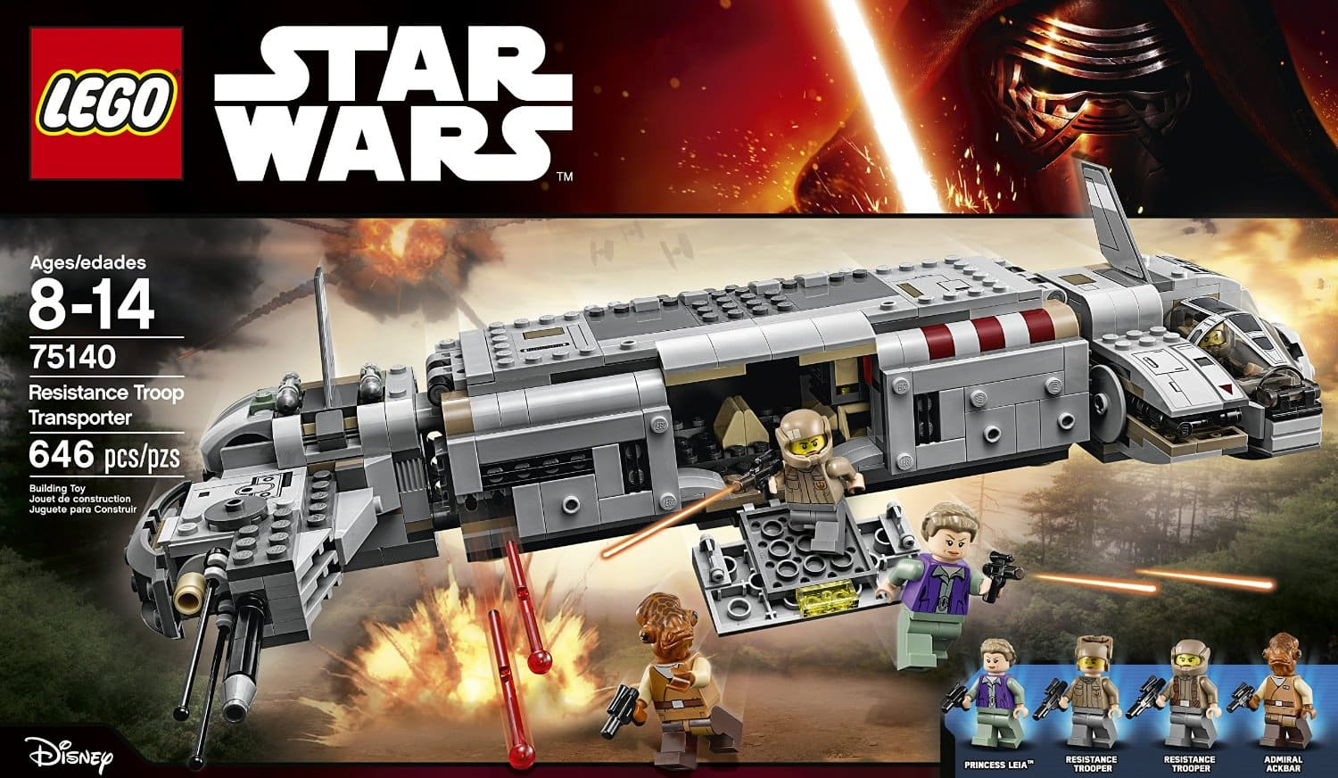 LEGO Star Wars: 646-Piece Resistance Troop Transporter Set $50.99 + Free Shipping