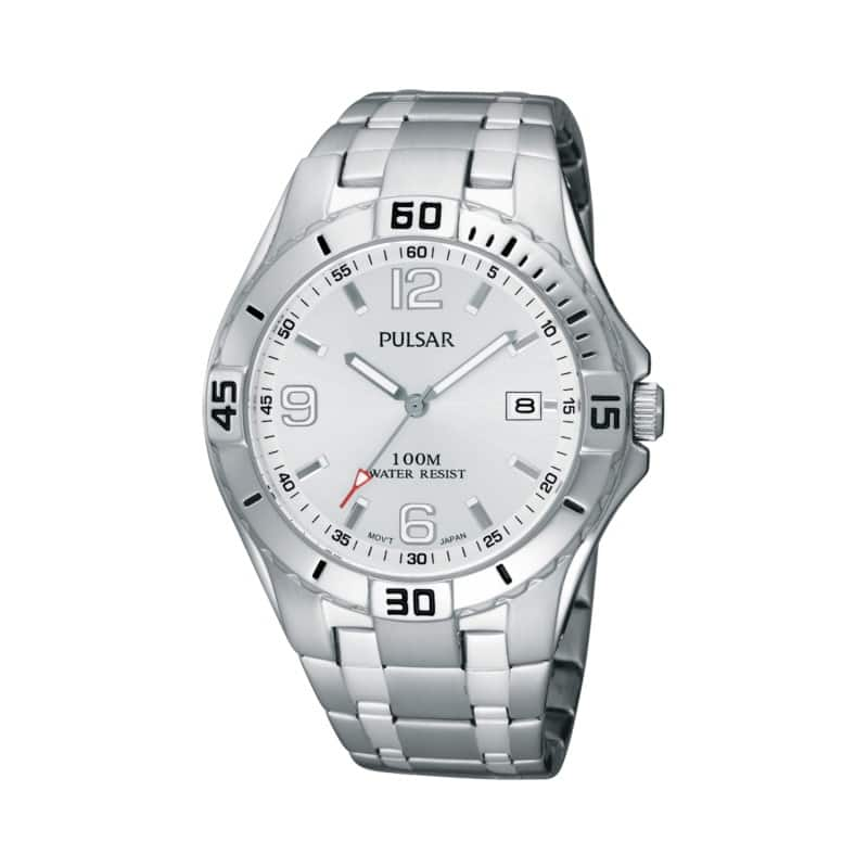 Pulsar Men's On the Go Collection Stainless Steel Watch $27.99 + Free Shipping