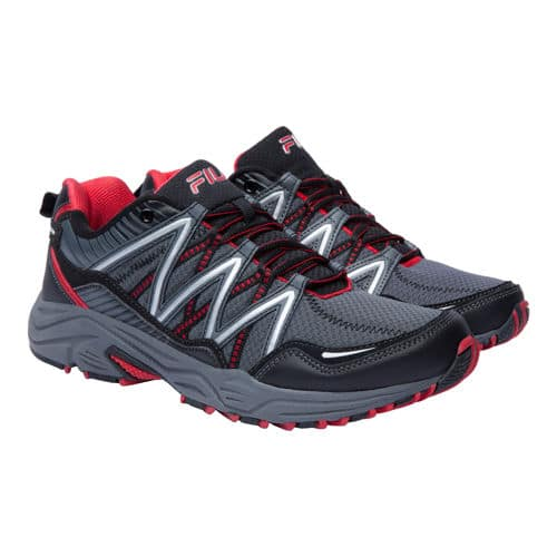 Costco Members Only: 'Fila® Men's Trail Running Shoe- Gray & Red' OR 'Ladies' Trail Running Shoe–Gray & Pink' for $19.99 + Free Store Pickup (Costco Wholesale)