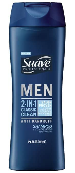 Suave Men 2 in 1 Shampoo and Conditioner 12.6 oz $1.58 AC + Free Shipping @Amazon