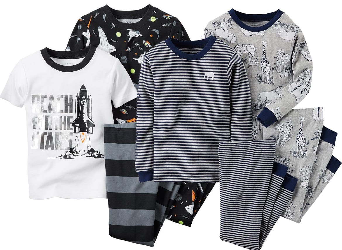 Kohl's Cardholders: 2-Piece Carter's Infant and Toddler Pajama Sets 4 for $16.80 + free shipping ($4.20 for each PJ set)