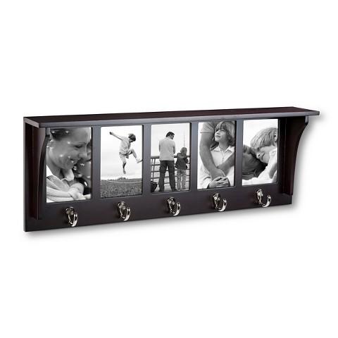 5-Hook Entryway Shelf w/ Photo Openings Wall Mount  $17.50 + Free In-Store Pickup