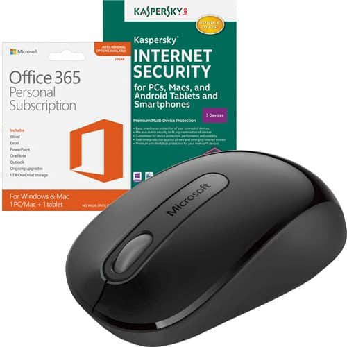 Microsoft Office 365 Personal/Kaspersky 2016 + Wireless Mouse  $50 + Free S/H