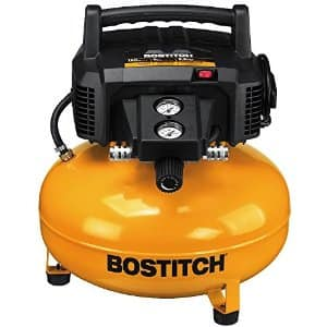 BOSTITCH Factory Reconditioned 6gal Pancake Compressor with 2000 brads - $82+tax @Amazon