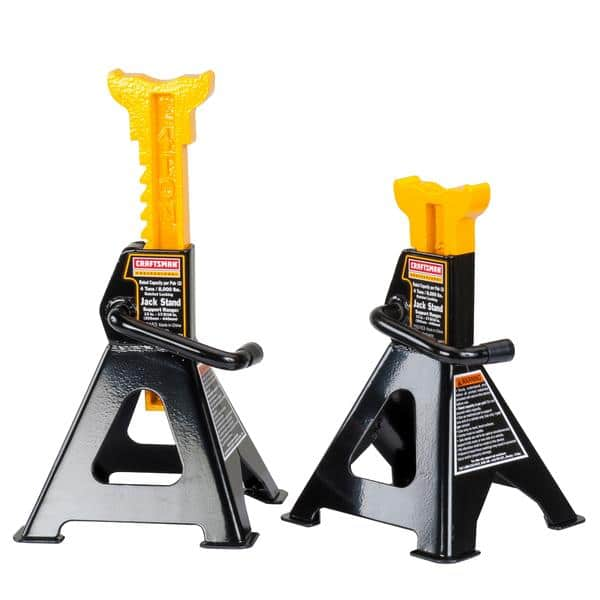 2-Pack Craftsman Jack Stands: Prof. 4-Ton $27, 2-1/4 Ton  $12 + Free In-Store Pickup