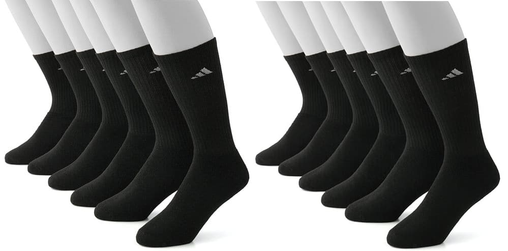 12-Pair Adidas Men's Climalite Performance Crew or Low-Cut Socks  $16 & More + Free In-Store Pickup