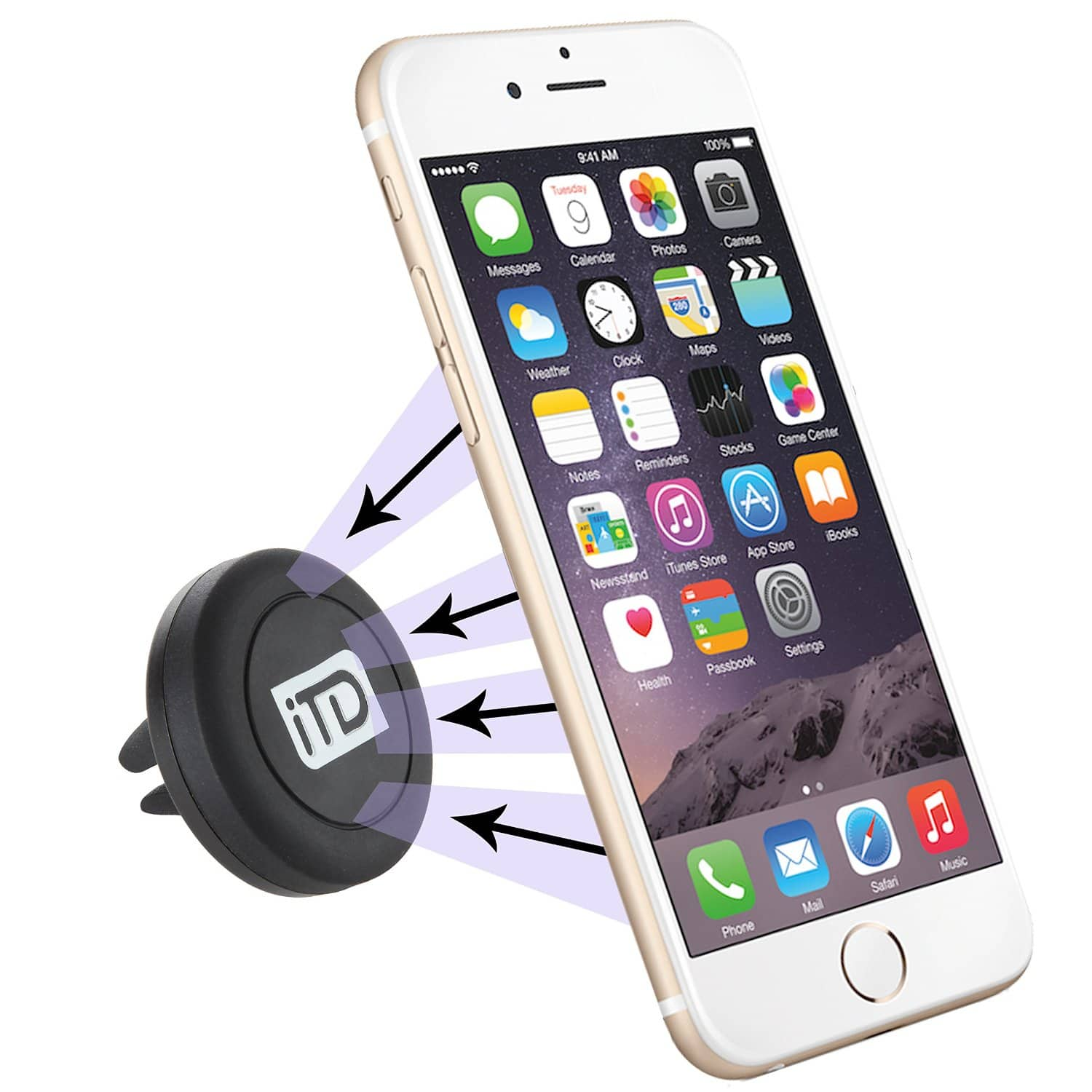 iTD Gear Magnetic Windshield Car Mount Holder $4 @ Amazon
