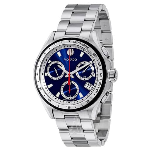 Movado 800 Men's Stainless Steel Blue Dial Watch $319 + Free Shipping