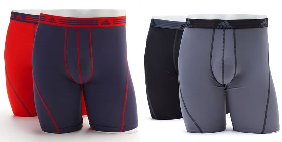 Kohls Cardholders: Men's adidas ClimaLite Boxer Briefs 4 for $21 + free shipping ($5.25 each)