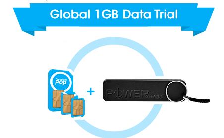 Global 3-in-1 SIM Kit + Free Powerbank + Free Internet  - $4.99 @Freedompop
