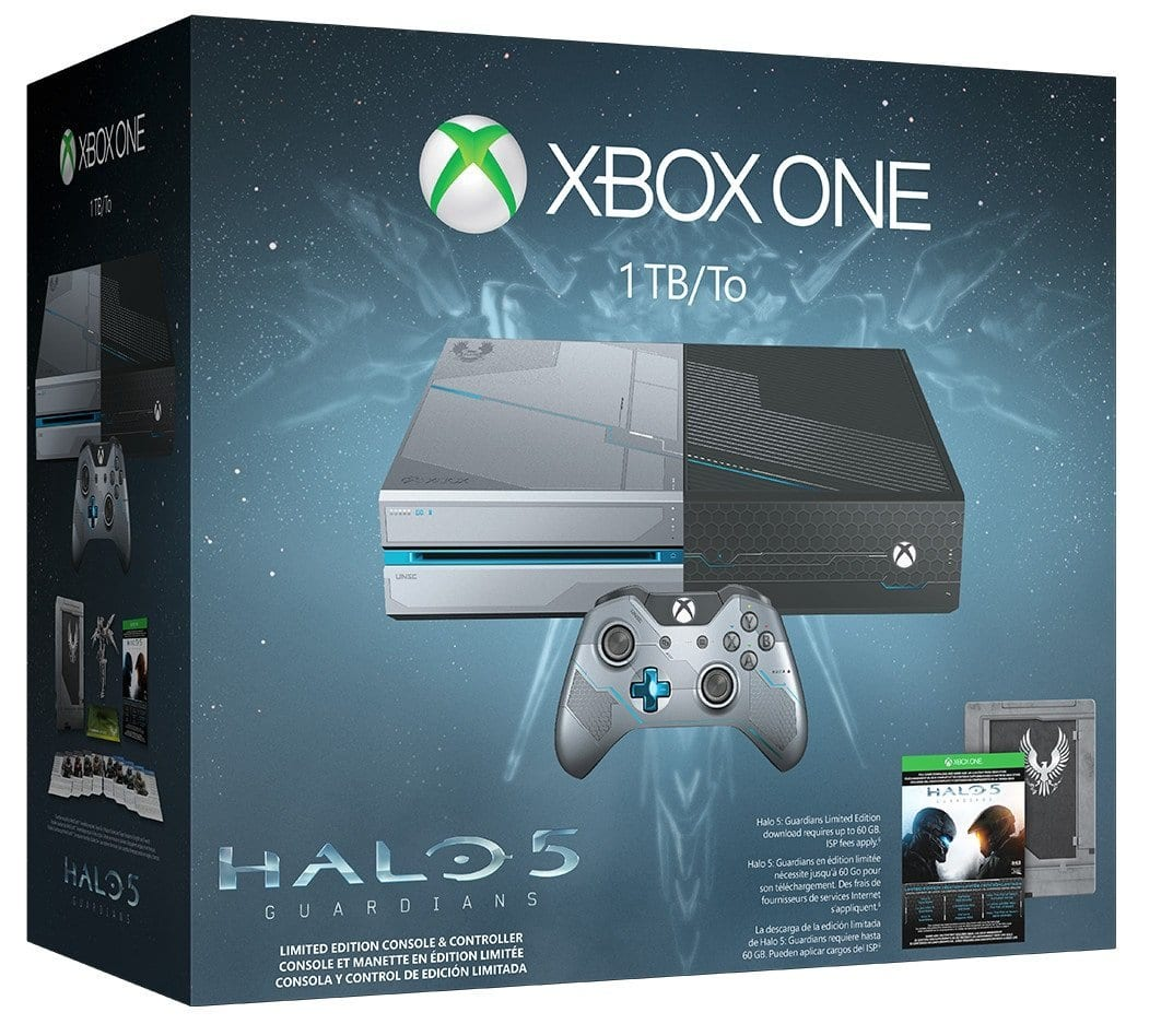 Xbox One 1TB Console - Limited Edition Halo 5: Guardians Bundle $269