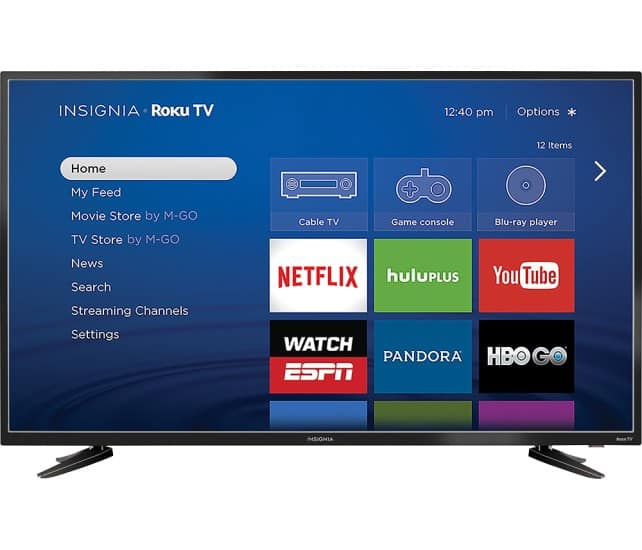 "48"" Insignia NS-48DR510NA17 1080p Roku Smart LED HDTV $249.99 + Free Shipping"