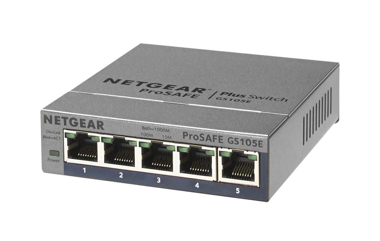5-Port Netgear ProSafe GS105E Gigabit Plus Switch w/ Lifetime Warranty $14.99 AR + Free Shipping