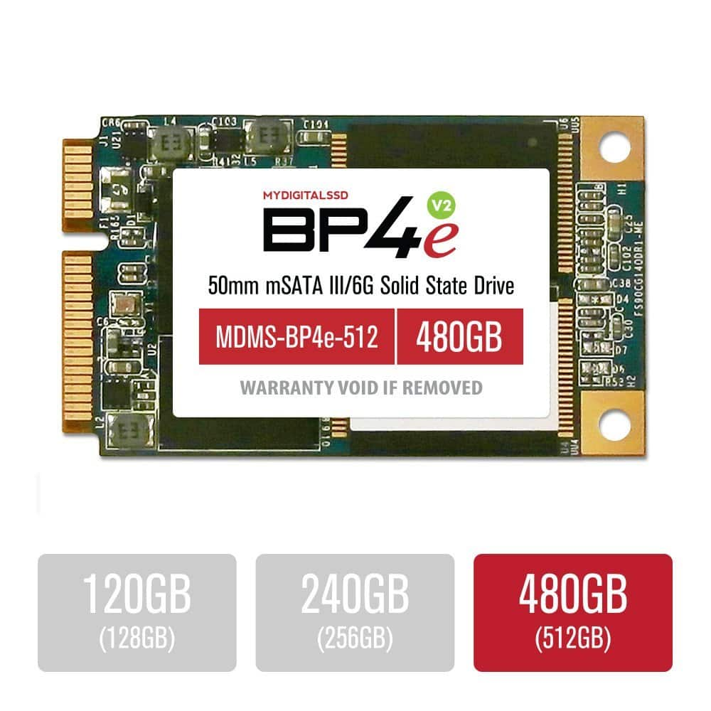 MyDigitalSSD: 480GB BP4e mSATA or BP5e M.2 Solid State Drive  $110 + Free S/H