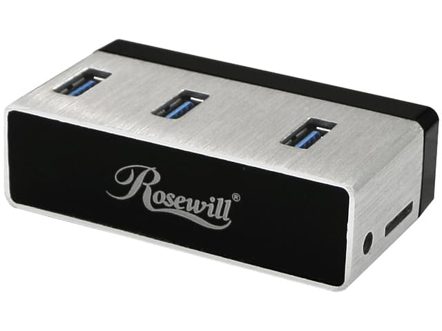 """Rosewill RHB-410 Aluminum 3-Port USB 3.0 Hub with Built-In 2.5"""" SATA HDD/SSD Adapter for Free After Rebate + Free Shipping @ Newegg.com"""