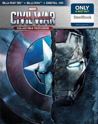 Captain America: Civil War (Blu-ray 3D/Blu-ray/Digital HD) Best Buy Exclusive Steelbook $27.99 Pre-Order