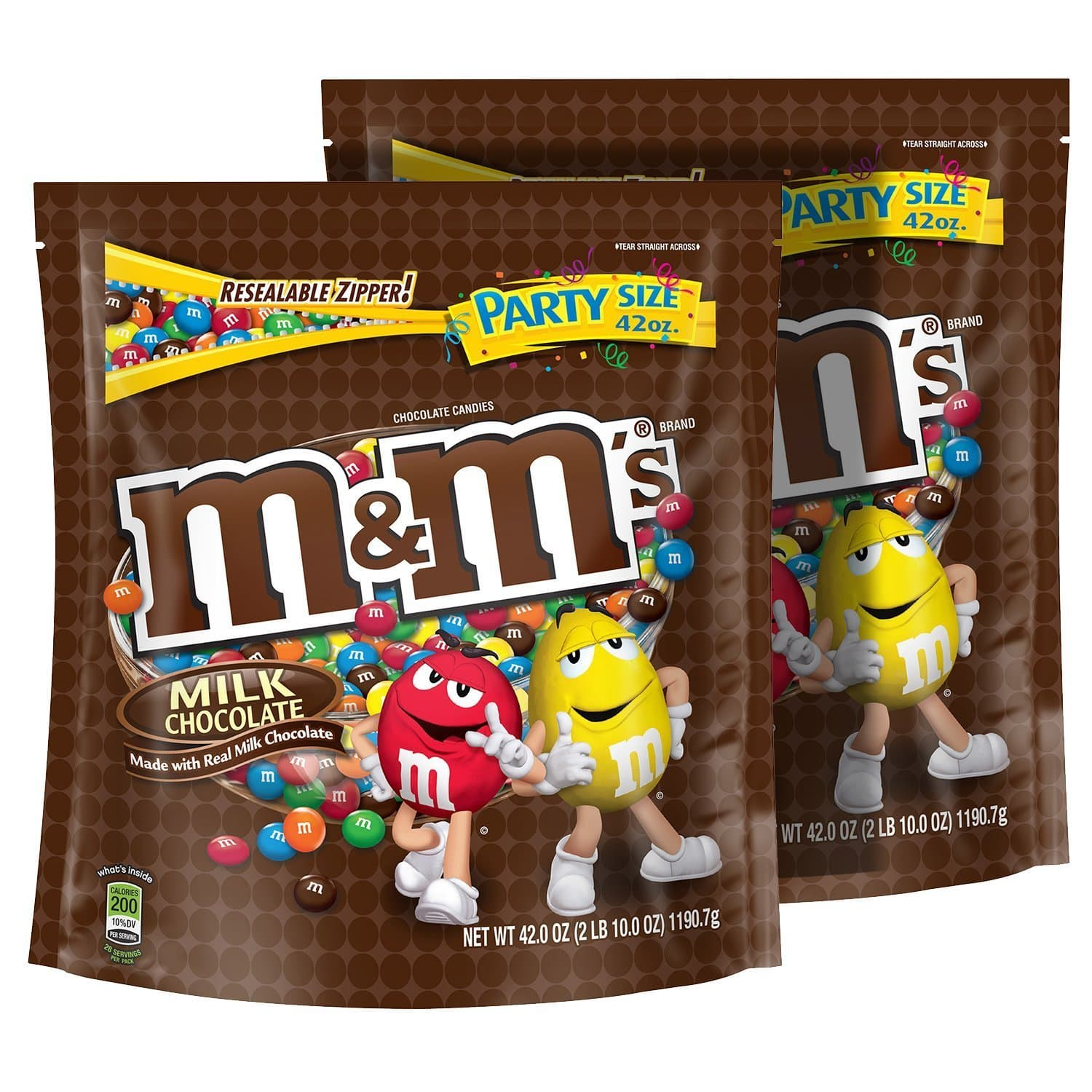 2-Pack 42oz. M&M's Milk Chocolate Candy Party Size Bag  $12.75