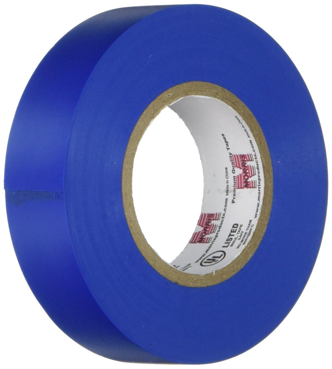 """Morris Vinyl Plastic Electrical Tape, 7 mil, PVC, 66' Length, 3/4"""" Wide, Various Colors - $1.01 + FS w/Prime"""