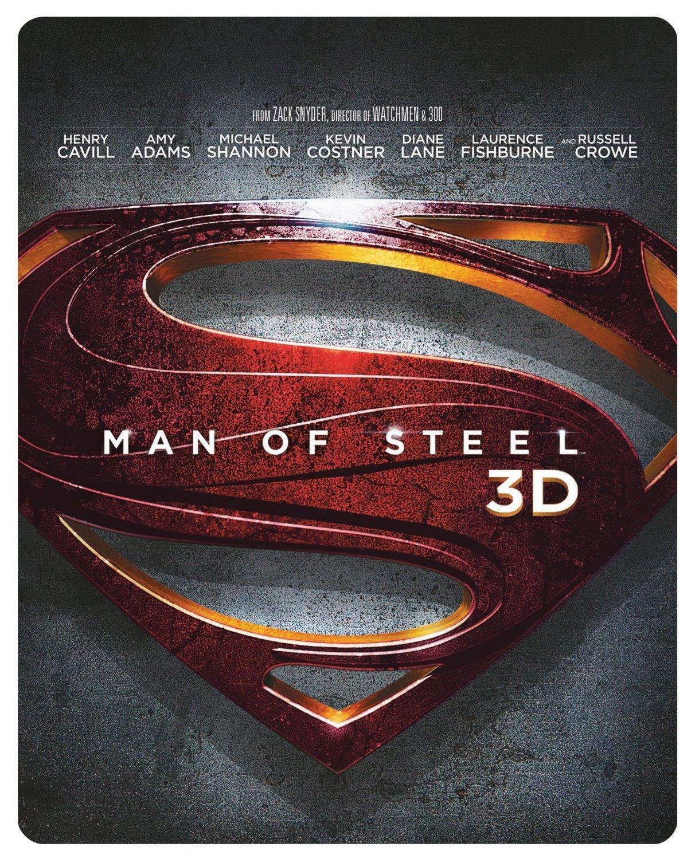Man of Steel Limited Edition Steelbook (Blu-ray 3D + Blu-ray - Region Free) $10.85 Shipped
