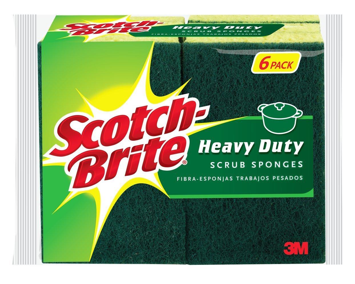 Prime Members: 6-Count Scotch Brite Heavy Duty Scrub Sponge  $2.60 + Free S/H