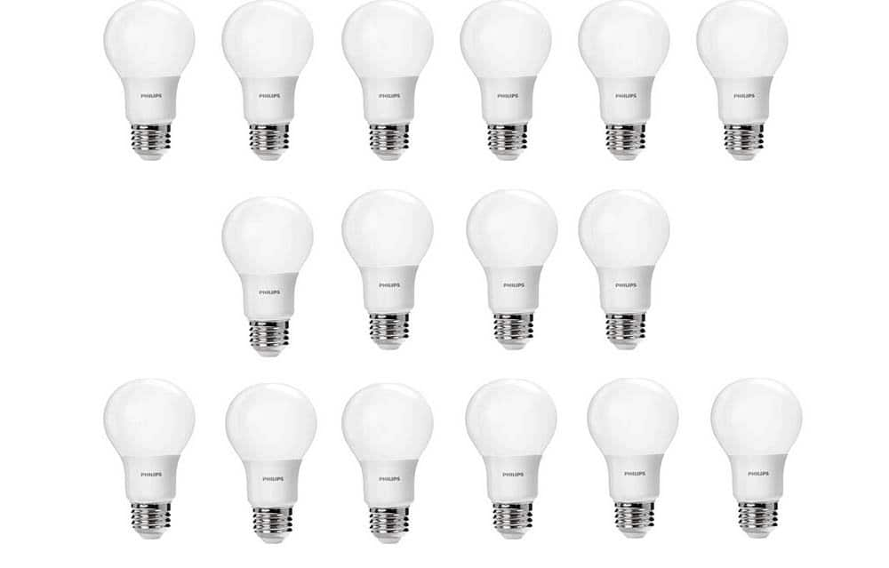 Prime Members: 16-Pack Philips 60W Equivalent A19 Light Bulb  $20 + Free S/H