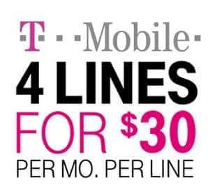 T-Mobile Family Plan: 4-Lines (6GB Data Each) w/ Samsung On5  $120/Month & More