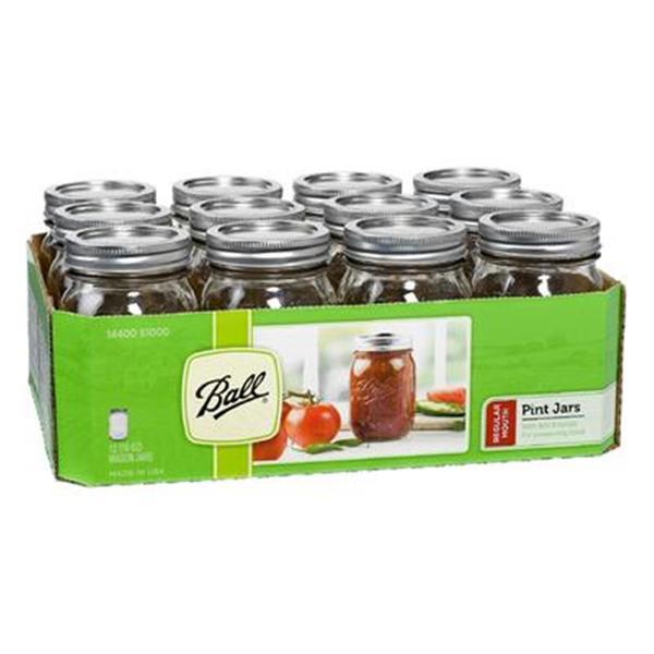 12-pack of Ball Pint Mason Jars + $5 SYW $7.29 + Free Store Pickup @ Kmart