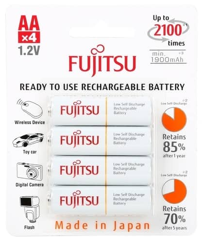 2 Ct. of 4-Pack Fujitsu AA 2100 Cycle 2,000 mAh Ni-MH Pre-Charged Rechargeable Batteries (HR-3UTCEX(4B) for $13.98 + Free Shipping @ Newegg.com