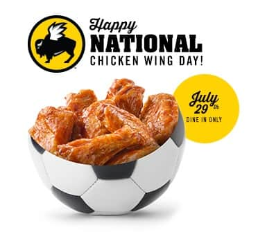 Half-Price Wings @ Buffalo Wild Wings (7/29, Dine-in Only)