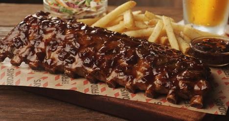 TGI Fridays: Jack Daniel's or Tennesse BBQ Full Rack of Ribs  $10 (Valid In-Restaurant)