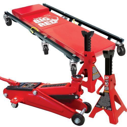 Torin Big Red 3-Ton Garage Jack Combo Set  $48 + Free S/H
