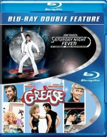 Double Feature Blu-Ray Movies: Saturday Night Fever/Grease  $5 & More + Free In-Store Pickup