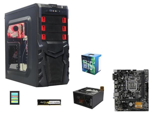 Intel Core i5-6500 Quad-Core 3.2GHz CPU + Asus H110M-A mATX MOBO + 8 GB Avexir DDR4 3000 Memory + 500W Rosewill 80+ Bronze PSU + 120 GB Team SSD & More for $344.99 AR @ Newegg.com