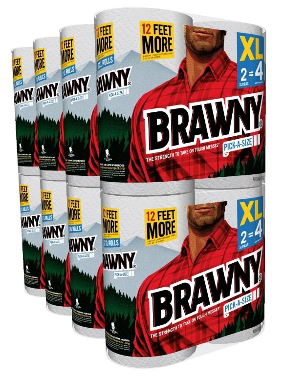 16 XL Brawny Pick-A-Size Paper Towels $21.74 AC or $18.84 w/ S&S, FS w/Prime! - Amazon